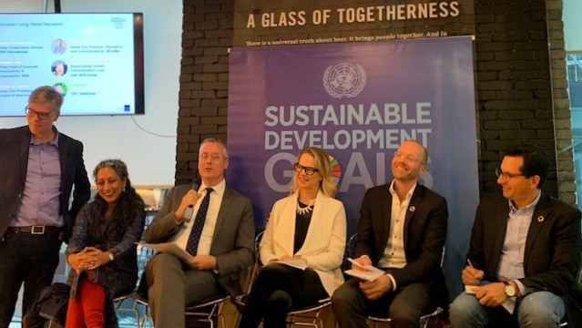 Attendees of the recent United Nations event supporting sustainability discuss important issues affecting our world today.