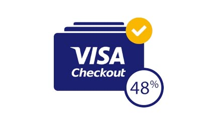 48% more transactions with Visa Checkout buyers.