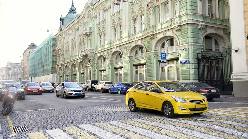 Streets of Moscow, Russia.