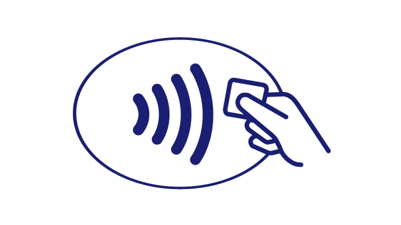 Contactless symbol.