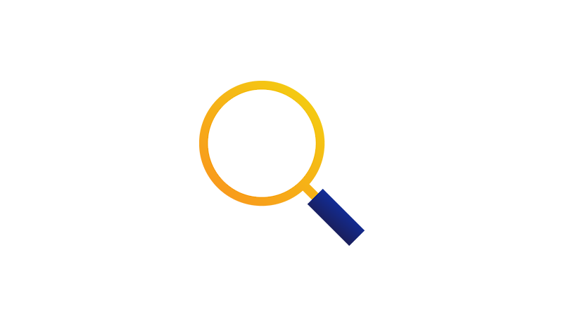 Illustration of a magnifying glass.