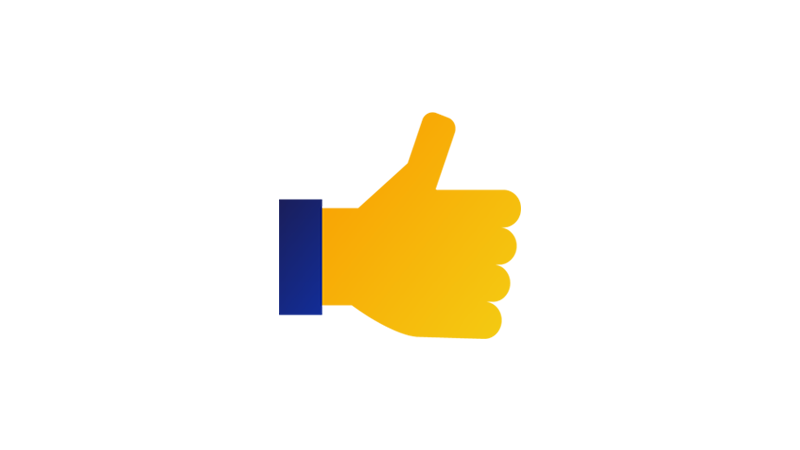 Illustration of a thumbs-up.