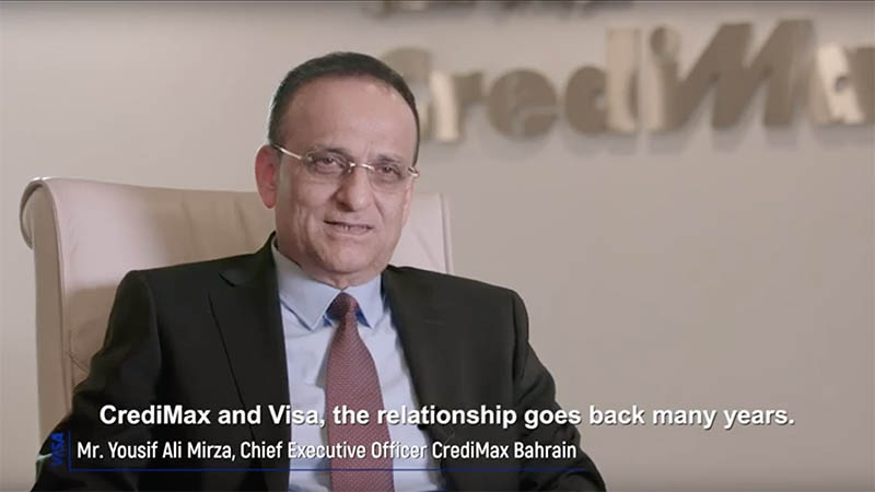 CrediMax Bahrain CEO Yousif Ali Mirza speaking about how Visa Consulting & Analytics supported their business growth.