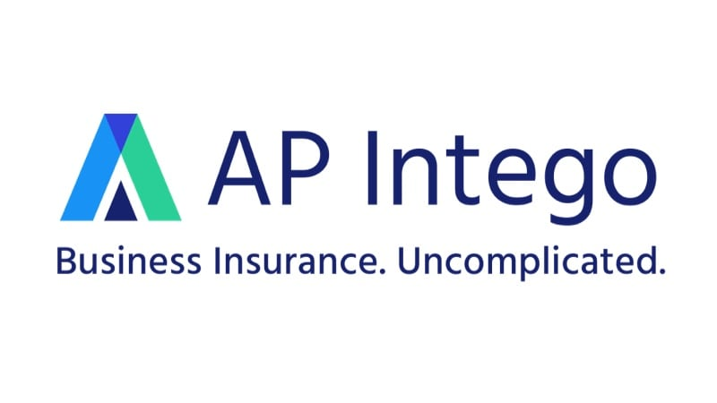 AP Intego logo with catchphrase Business Insurance, Uncomplicated below.