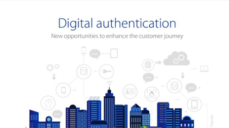 Infographic that states 'Digital authentication - new opportunities to enhance the customer journey.'