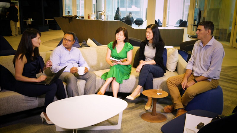 diverse and inclusive team chatting in visa