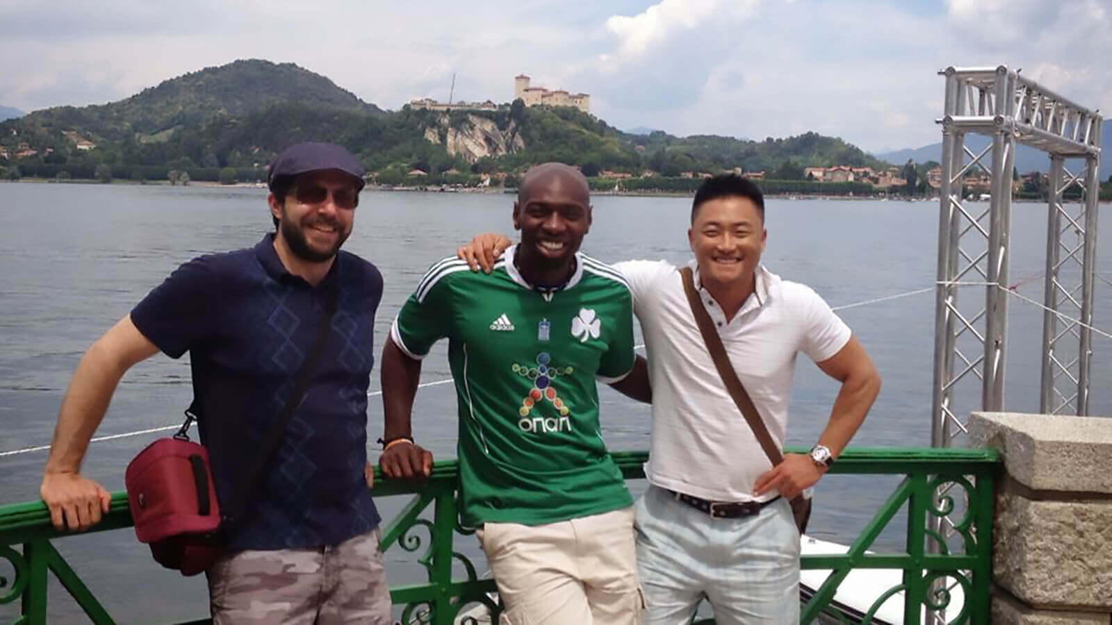 sam tam with friends in italy