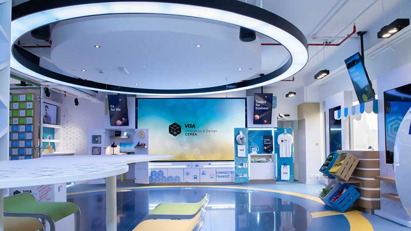 The Experience Gallery in the Dubai Innovation Center—a showcase for payment solutions.