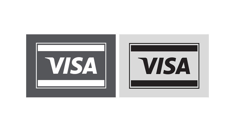 One-color Visa POS graphic.