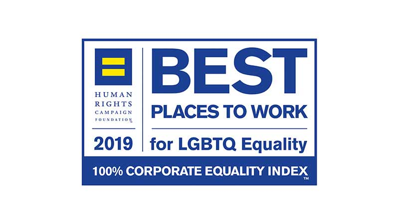 Best places to work for LGBTQ equality awards logo.