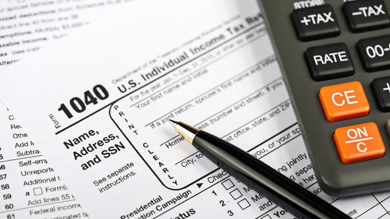 Image of 1040 tax form