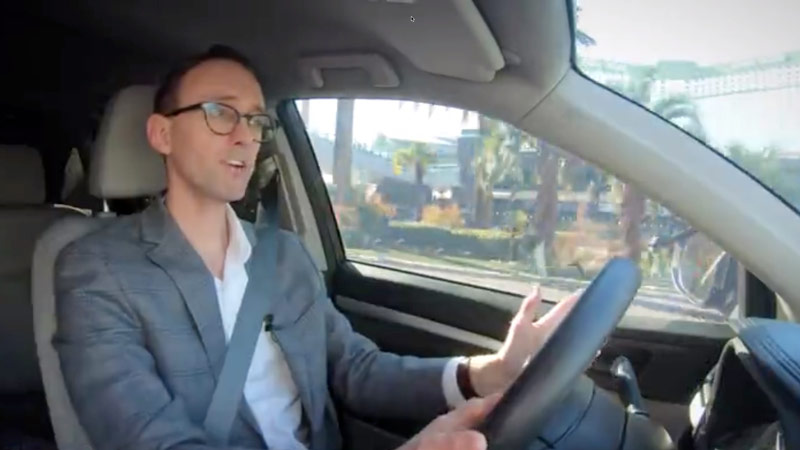A CNET reporter, Craig Cole, takes Visa's connected car out for test drive.