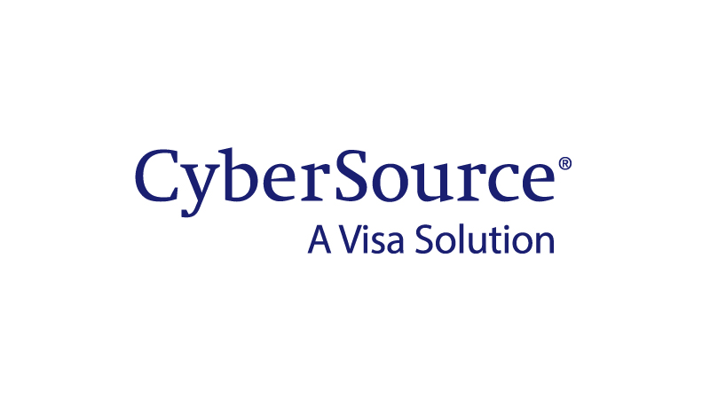 CyberSource logo with subheading A Visa Solution.